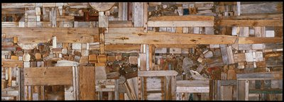 Morrison,'Collage IX Landscape',wood,U.S.XXc