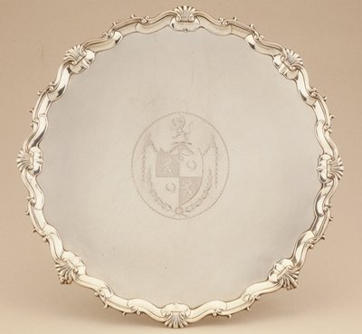 George III salver with arms of Buckingham