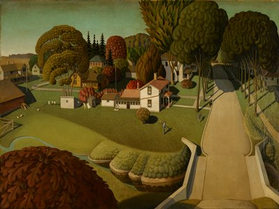 Landscape. Painting is owned jointly by the MIA and the Des Moines Art Center