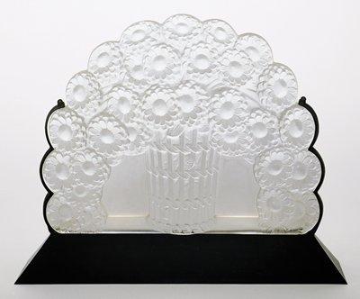 """Basket of Flowers"" (""Panier de Fleurs"") illuminated plaque (luminaire)"