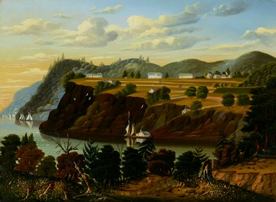 Landscape. View of the Hudson River looking across towards West Point.