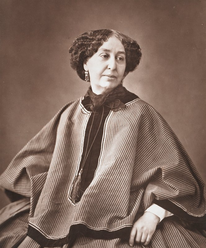 "portrait of George Sand seated; leaf from ""Galerie Contemporaine"""