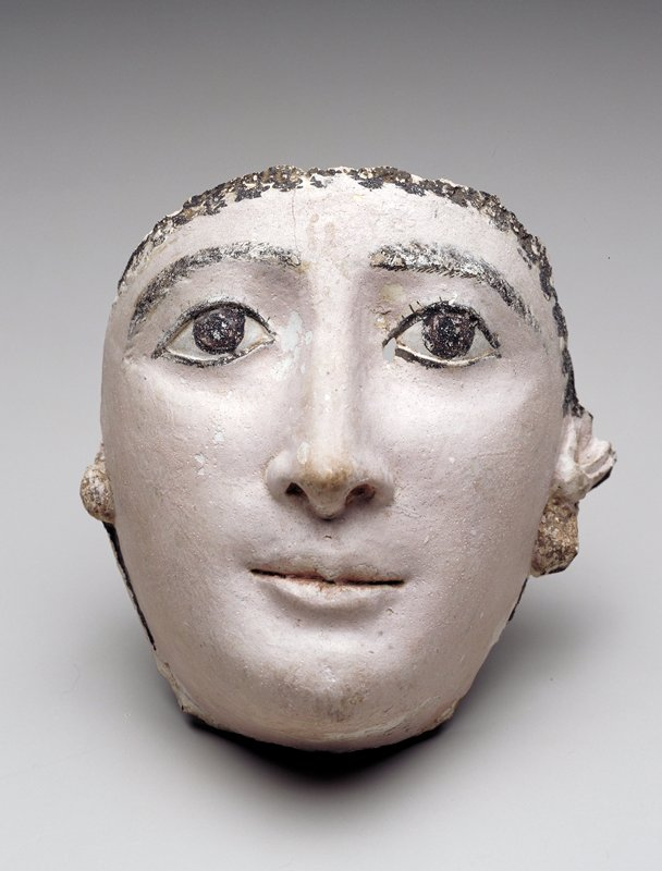 Funerary mask, polychromed stucco (plaster)