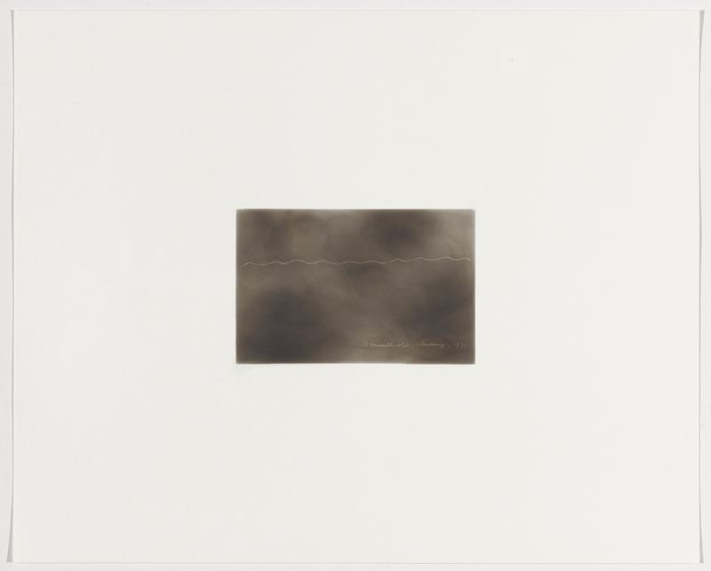 smoky grey background; wavy white line