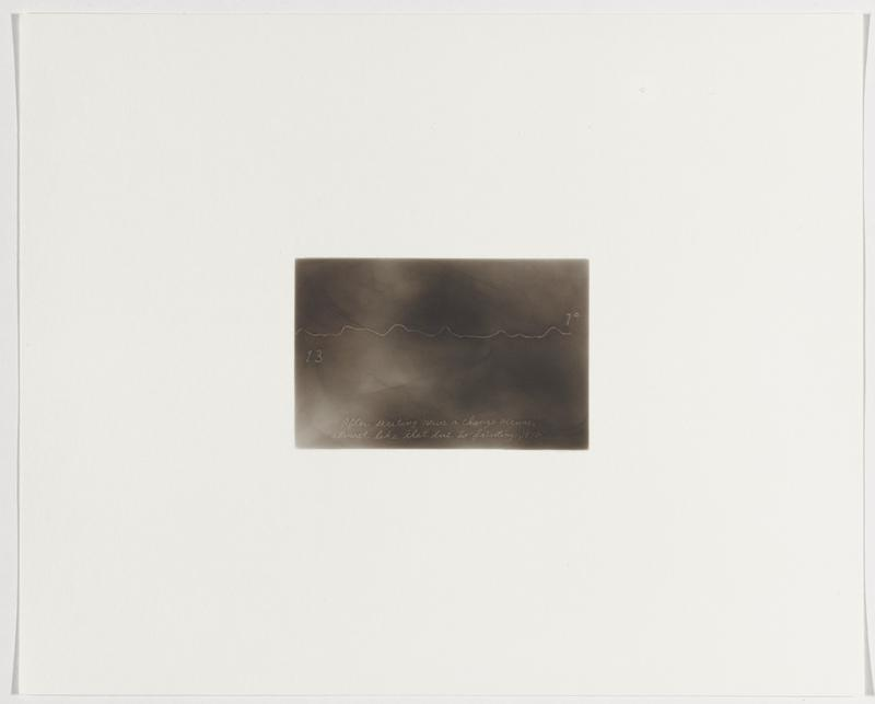 """smoky grey background; wavy white line, with """"13"""" below line at left edge of image, and """"1º"""" above line at right edge"""