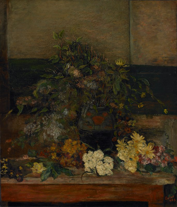 Still life. Vase of flowers.