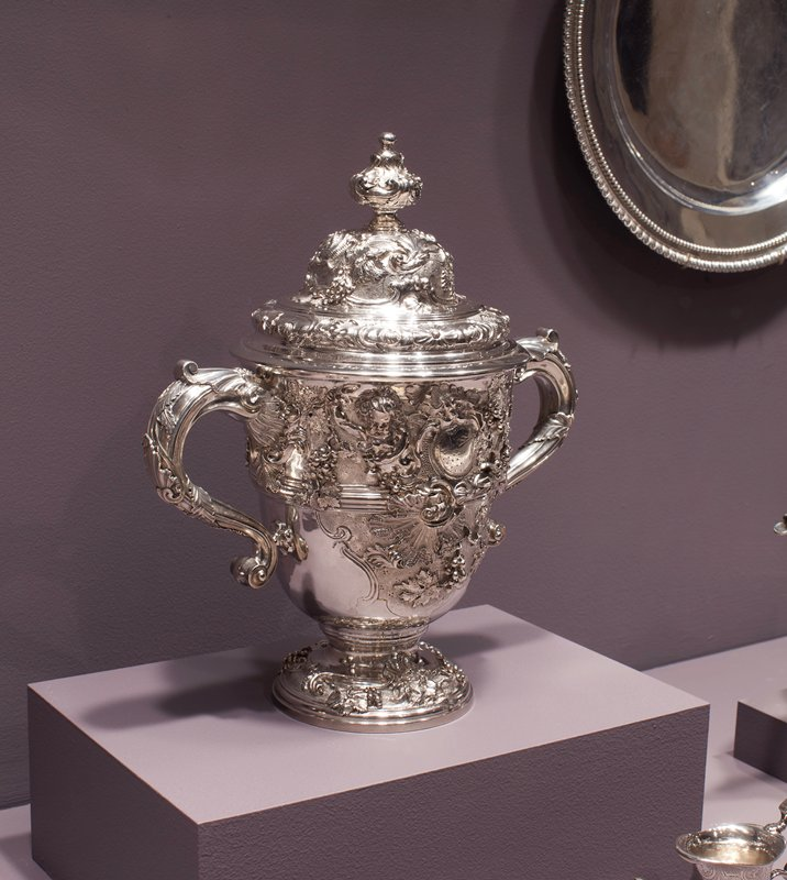 Rare George II Two-handled Cup and Cover. cup has number partially rubbed off