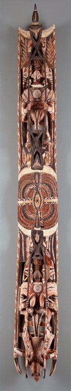 Mallangan, wood and pigments