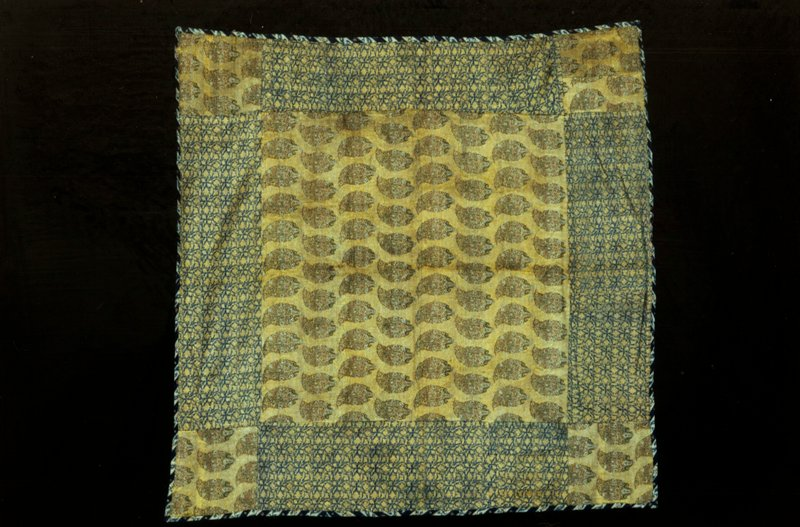 square of silk brocage, pear design