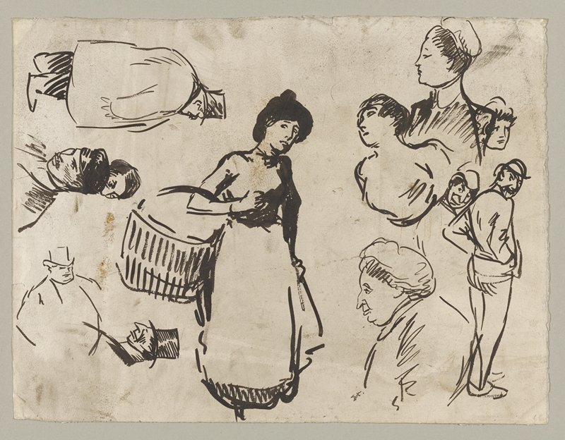 sheet of studies, recto and verso