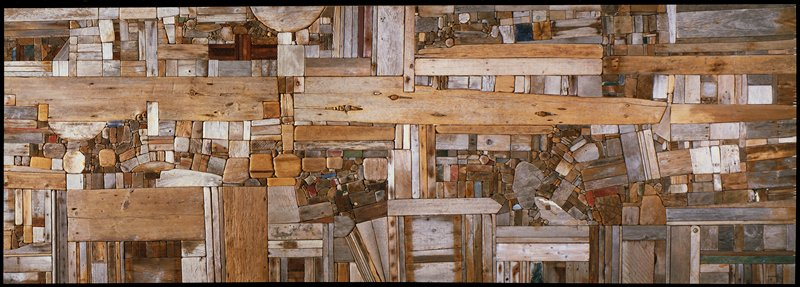 Morrison,'Collage IX Landscape',wood,U.S.XXc