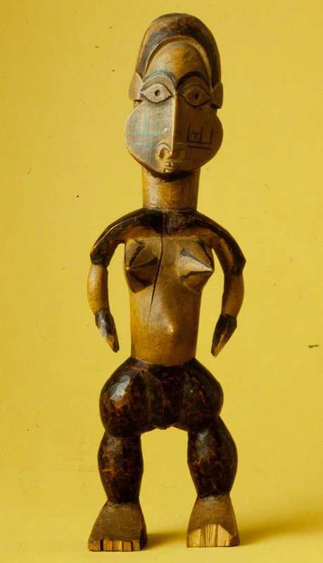 Standing Female Figure, wood, African (Zaire)