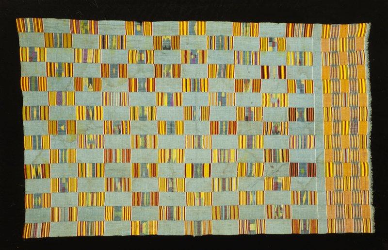 Kenta Cloth, black and white checkered, cotton, Africa, Mali, XX c.