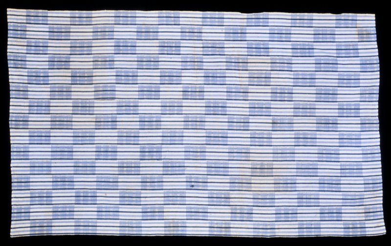 panel, simple strip cloth Kenta Cloth, light blue and white, cotton