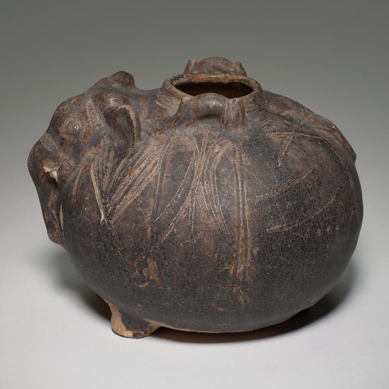 Elephant-Shaped Jar, stoneware