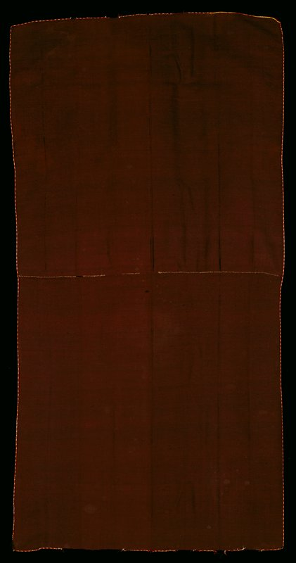 Llacolla, alpaca, silk Bolivia, Bolivar region, 19th century; brown monochrome rectangular cloth