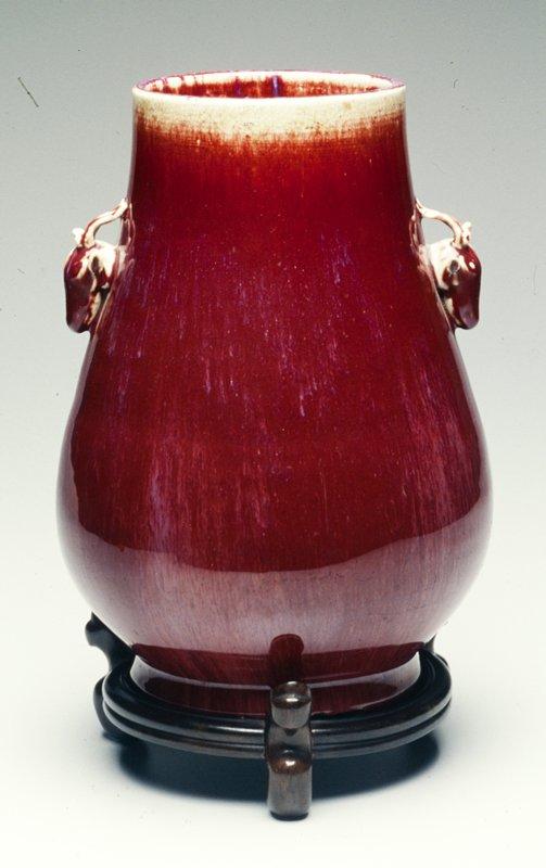 pear shape; two deer head handles