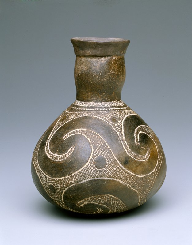 Hodges Water Bottle, Earthenware, North America (Arkansas)