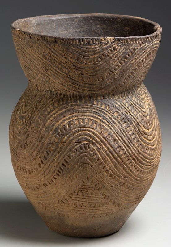 Caddoan Jar (Military Road Type), earthenware, North America, Mississippian Culture, XII-XVc.