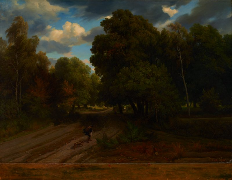 Barbizon landscape, northeastern France, Fontainebleau forest