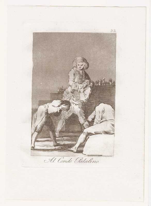 Plate 33, etching, aquatint, drypoint and burin in dark brown ink, first edition; matted with P.84.6.