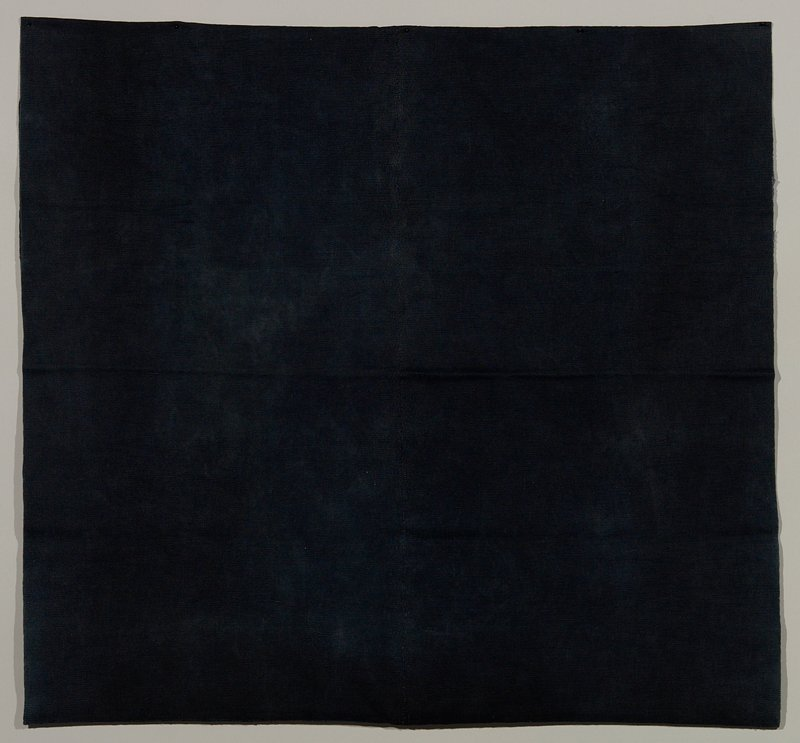 plain indigo blue; tubular skirt made of 2 horizontal panels sewn together