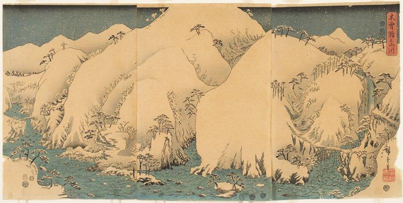 center piece of vertical ōban triptych