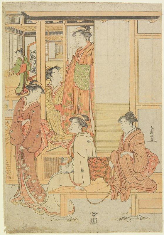 part of vertical ōban triptych