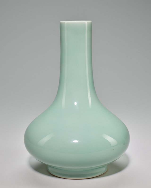 Bottle, pale Celadon glaze