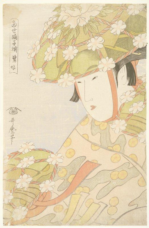 喜多川歌麿『当世踊子揃 鷺娘』
