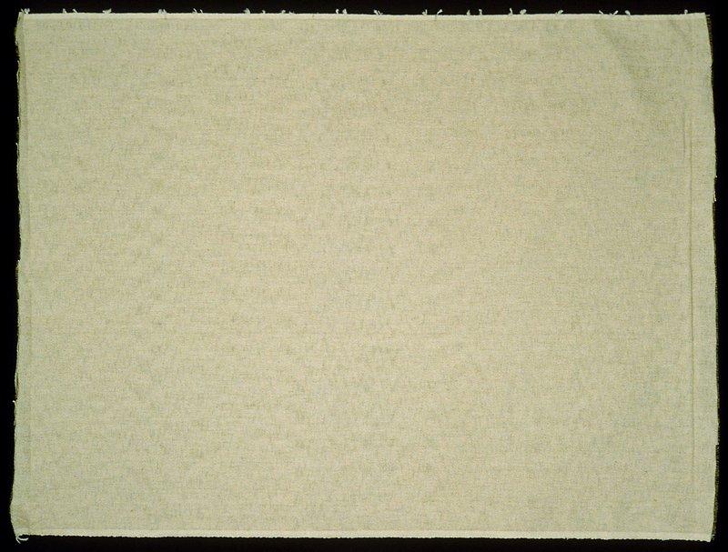 Coarse, plain weave, eggshell or off-white in color Eggshell