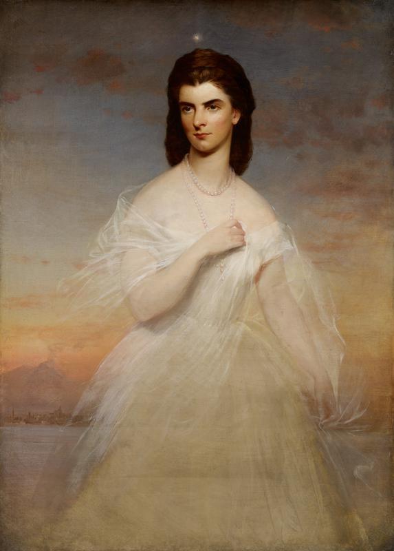 Three quarter length portrait of a woman.
