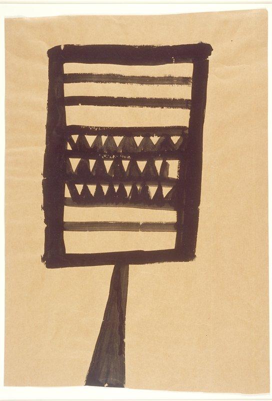 Fragment of black chalk sketch on verso